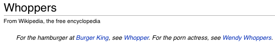 Wikipedia whoppers.